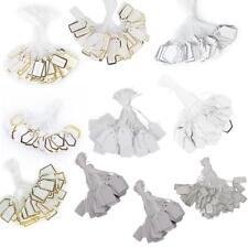 500pcs Plain Blank Jewelry Craft Pricing Label String Tags Strung Swing Accs
