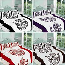 NEW DARCY FLORAL DUVET QUILTT COVER BEDDING SET SINGLE DOUBLE KING SUPERKING