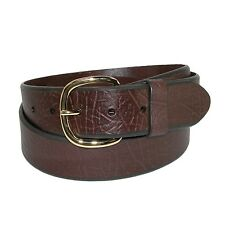 New Aquarius Men's Big & Tall Oil Tanned Leather Belt with Removable Buckle
