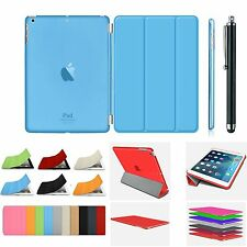 Smart Magnetic Stand Leather Case+Hard Back Cover For APPLE iPad 4/3/2 Air Mini4