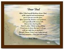 Father Dad Personalized Poem Gift For Birthday Christmas