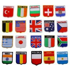 DIY New Embroidered Iron On Patch National flag Motif Badge USA UK Australia