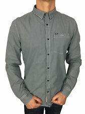 SALE £41 // Mens Size XL Superdry New England Dress Shirt in Micro Gingham Blue