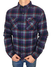 SALE £38.50 // Mens Size XL Superdry Refined Lumberjack Shirt Artic Night Check