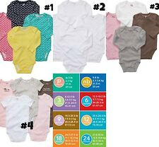 *NEW GIRLS 4PK or 5PK CARTERS LS SS Shirts Bodysuits NB 6M 9M 24M