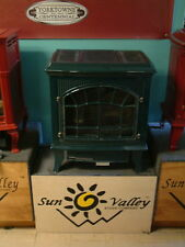 Sun Valley Cast Iron Gas Stove Heater Hepplewhite Green Direct Vent