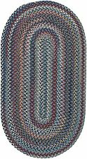 "Capel Rugs ""Bunker Hill"" Wool Variegated Country Braided Oval Rug Blue #450"