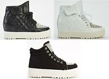 LADIES WOMENS ARMY COMBAT FLAT GRIP SOLE WINTER ANKLE BOOTS SHOES SIZE
