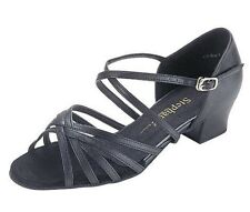 Stephanie Dance Shoes 16003-11X, Black Leather