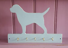 Shabby Chic Border Terrier Dog Wooden Lead Collar Key Rack Hooks Hanger
