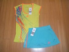 WOMENS/LADIES ADIDAS ADIZERO TENNIS OUTFIT SKIRT/SKORT & shirt TOP Reg $100   XS