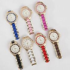 Fashion Women Sport Stainless Steel Band Analog Quartz Dial Casual Wrist Watch