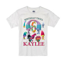 Trolls birthday shirt Personalized Custom Name Age Kids T-Shirt