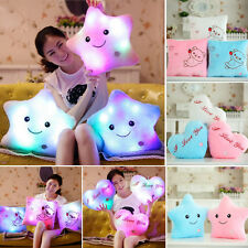 Stuffed Doll Glowing LED Pillow 7Color Changing Light Up Soft Cosy Relax Cushion