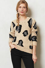 Anthropologie Guepardo Pullover Sz XS, Leopard Print Sweater By Sleeping On Snow