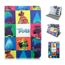 """New TROLLS 2016 Moive Kids Cartoon PU Leather Cover case Universal 7"""" Tablet PC"""
