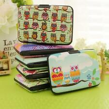 Plastic Case Protector Holder Owl Card Bag ID Credit Wallet