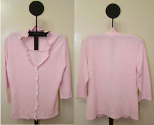 Sagharbor Pink White or Red Women's Layered Pullover Long Sleeve Sweater - NWT