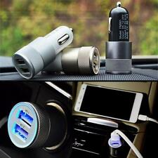 Bullet Car Charger  2-port Dual Usb 2.1a/1.0a Adapter for Iphone 5 6 Samsung