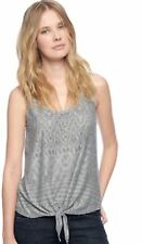 Ella Moss Nadia Top Front Knot Heather Grey Size XS-L NWT Rayon Poly Blend
