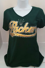 Greenbay Packers Gold Sequin Embroidery Hotfix Transfer (NO TSHIRT)