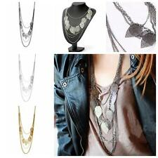 Women  Chic Long Jewelry Pendant Sweater Chain Multi-layer Leaf Necklace