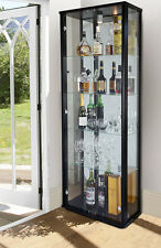 SHOP DISPLAY LOCKABLE RETAIL DOUBLE GLASS DISPLAY CABINET VARIOUS COLOURS