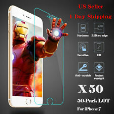 HOT 50x Wholesale Lot Tempered Glass Screen Protector for Apple iPhone 7
