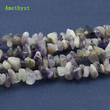 Freeform Amethyst Gemstone Chips Jewelry Making Loose Beads Strand 15''
