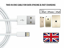 Pack of 2 Apple Sync & Charger USB Data Cable For iPhone 7 6 6s 5 Plus iPad iPod