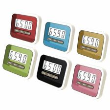 LCD Digital Kitchen Cooking Timer Count-Down Up Clock Alarm Magnetic Home Tool