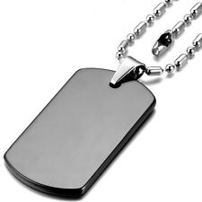 Mens Ball Bead Chain Military Army Steel Stainless Pendant Dog Tag