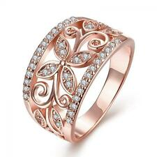 Wedding Finger Crystal Flower Ring Clover Zircon