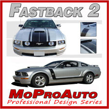 FASTBACK 2 BOSS Style Mustang GRAPHICS Stripes Decal 2005 - 3M Pro Grade 087