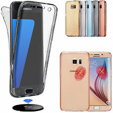 360° ShockProof Gel Skin TPU Protective Clear Case Cover For Samsung Galaxy S7