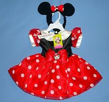Disney Minnie Mouse costume dress;Junior Baby;3-6;6-9;9-12;12-18 months-w/ears