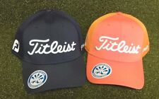 Titleist Sports Mesh Golf Men's Cap Hat NEW Orange Navy Fitted S/M M/L L/XL