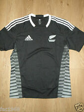 New Zealand Sevens Men's Rugby Shirt Jersey Adidas Black Climacool Adizero L