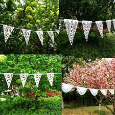 Paper Flags Bunting Garland Banner Wedding Party Garden Plain Fashion Ornaments