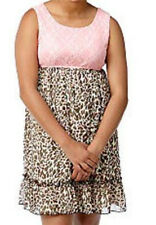 Speechless Lace to Animal Print Girl Dress NWT