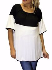 Black White Dolman Solid Baby Shower Maternity Top Womens Blouse  S M L XL