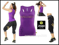 ZUMBA Instructor 2Pc.Set! FABTASTIC RacerBack+Capri Cargo Pants RARE*EliteZWear