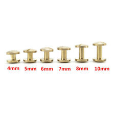 Belt Screw Leather Craft Chicago Nail Brass Rivets Stud Head Wallet Round New