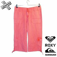 QUIKSILVER ROXY 'SUNDAE BEST' WOMENS CAPRI TROUSERS SHORTS UK 12 14 BNWT RRP £55