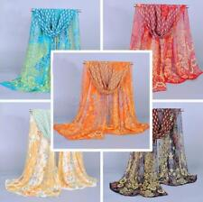 Peacock Chiffon Scarf Shawl Long Soft Wrap Summer Beach Cover Up for Women