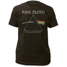 Pink Floyd Dark Side Of The Moon Distressed Fitted T Shirt