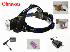 Ohmycos Adjustable Focus Hunting Headlight Camping Head Light Torch 18650Charger