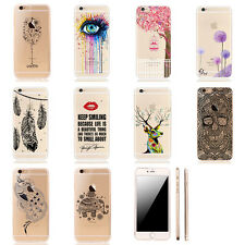Fashion Pattern Crystal Soft Silicone TPU Case Cover For iPhone 5 5S 6 6S Plus