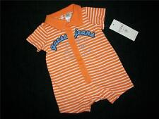 NWT Baby Guess Orange & White Striped Bodysuit Romper Outfit 0-3-6-9 Mo