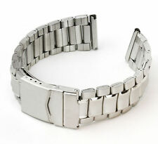 StrapsCo Silver /Two Tone Stainless Steel Watch Band Curved / Straight End Strap